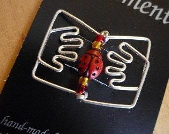 Wire Book Brooch