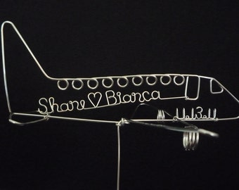 COME FLY with ME: Airplane Wedding Cake Topper