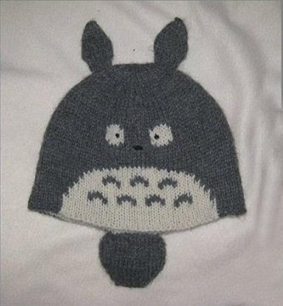 Knitting Pattern For Totoro Hat : Totoro Knit Hat PATTERN