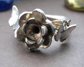 Flower Butterfly Ring Jewelry Sterling Silver