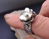 Flower Ring Silver in Sterling Silver Jewelry