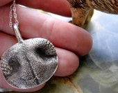 Dog Nose Necklace Engraved Personalized Sterling Silver Large Dog