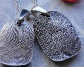 Fingerprint Necklace Jewelry Dog Paw Necklace Jewelry Personalized Silver