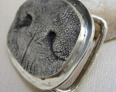 Dog Nose Belt Buckle Jewelry in Sterling Silver Personalized