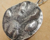 Cat Paw Necklace in Sterling Silver  Personalized