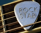 Guitar Pick Necklace Jewelry  Personalized in Sterling Silver