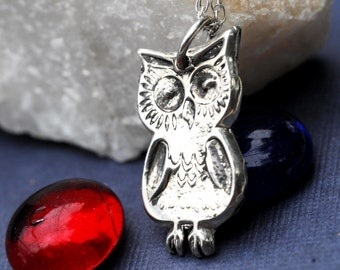 Silver Owl Necklace Sterling Silver