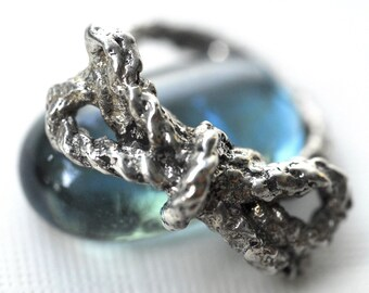 Bow Ring Knot in Sterling Silver Forget Me Knot Ring String Ring