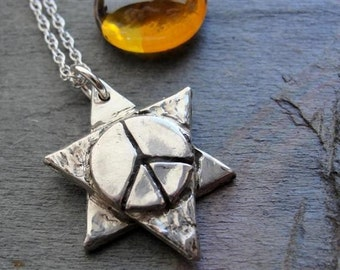 Star of David Necklace Jewelry  in Sterling Silver