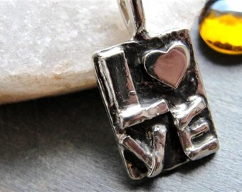 Love Heart Necklace in Sterling Silver