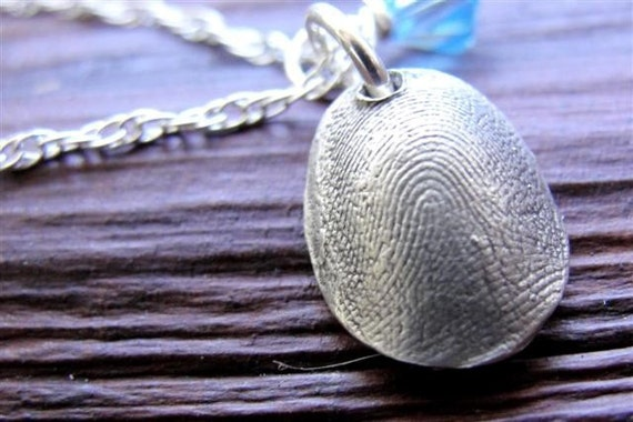 fingerprint jewelry necklace thumbprint personalized in