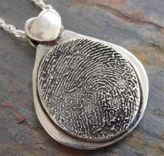 Items Similar To Fingerprint Necklace Jewelry Thumbprint