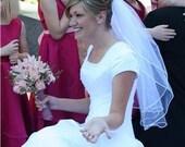 Custom Handmade 1 or 2 Tier Elbow Wedding Veil Bridal Starting at 26.99