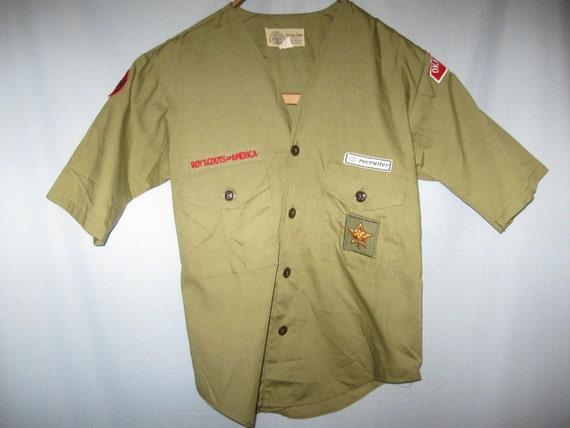 Vintage Boy Scout 40s 50s Uniform Shirt