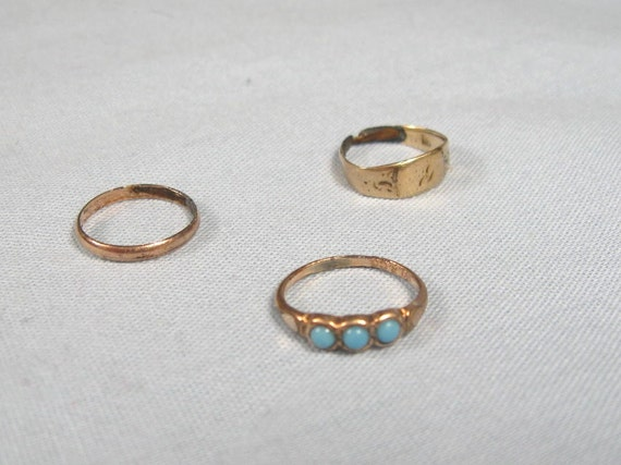antique set of 3 baby rings jewelry