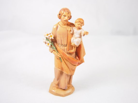 Vintage Italy Simonetti Plastic 80s St Joseph Figurine