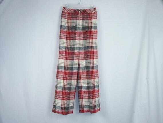 Vintage 60s 70s Plaid Wool Golf Pants Clothing Villager
