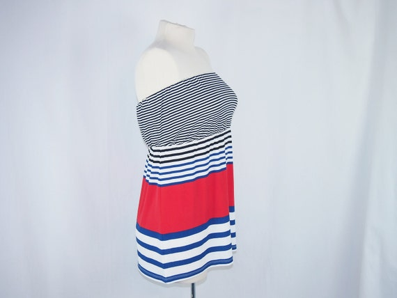 Outback Red LImited 80s Knit Stripe Top Shirt Vintage Clothing