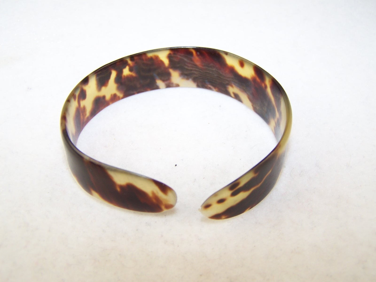 vintage old real tortoise shell cuff bangle bracelet