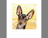 MinPin Dog Art Print