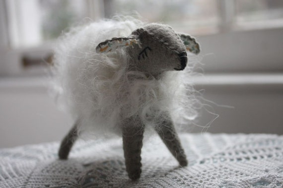 Little grey sheep- wool animal (Reserved)