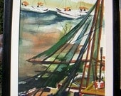 Owens Nautical  Abstract painting California