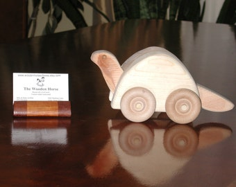 Wooden turtle push toy
