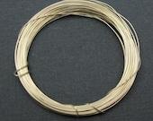 Sterling silver Wire -27 Gauge , Ga - Dead Soft ( 12 feet)