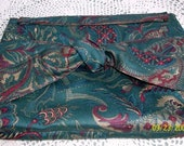 Turquoise Knotted Clutch