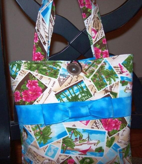 Tropical Postcard Bag