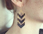 Gold Chevron Dangles