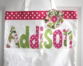 Personalized flower tote