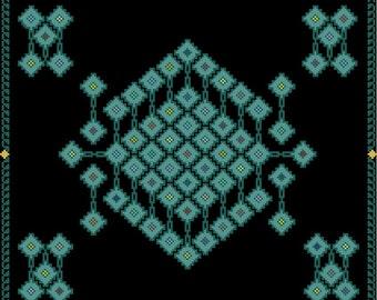 Star Mirrors Cross Stitch E-Pattern PDF Format