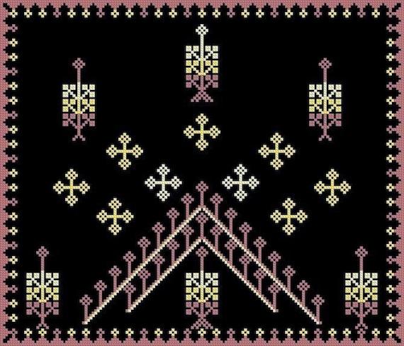 Starry Night over Bethlehem Cross Stitch E-Pattern PDF format