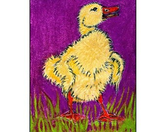 Yellow  Duck 5x7 blank card