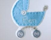 Personalized Baby Boy Ornament - Made to Order Felt Ornament