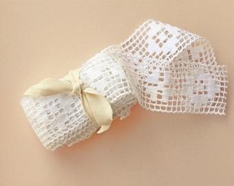 Vintage White Fillet Crochet Lace Trim, Machine Made,Cottage Chic,Home Decor 4yds- (3.65m)