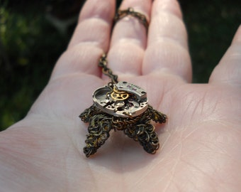 Steampunk Starfish necklace whimsical fantasy steam