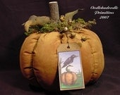 Fall Primitive Pumpkin With Crow Table Topper Instant Digital Download E Pattern ET