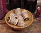 Primitive Cotton Butcher's Twine Vintage Wood Thread Spool Crafts Filler Tucks  ET