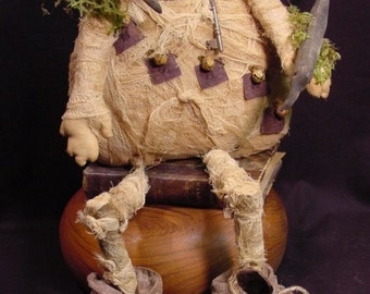 Primitive Halloween Mummy Doll Instant Digital Download E Pattern ET