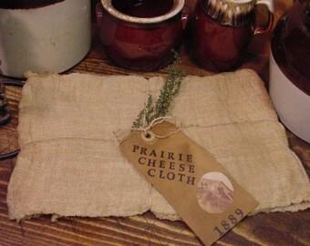 Prairie Cheese Cloth Jar Cover Crafts ET