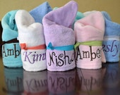 Personalized Turby Twisty Towel for Hair With Your Name Embroidered with a Sassy Knots hair tie