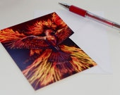 Phoenix Rising Note Cards