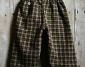 Austin Plaid Baby Pants (Re-purposed Shirt)