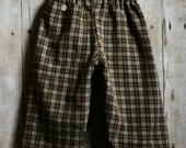 Austin Plaid Baby Pants (Re-purposed Shirt)