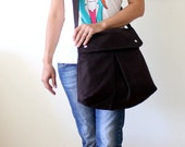 Modular Messenger Bag in Chocolate Brown / Shoulder Bag / Laptop Bag / Diaper Bag / Travel Bag
