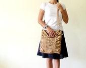 LAST ONE - Poetry in Mustard / Pleated Bag / Shoulder Bag / Diaper / Medium / Ruffles Bag / Messenger Bag / Cross Your Body / Choose Color