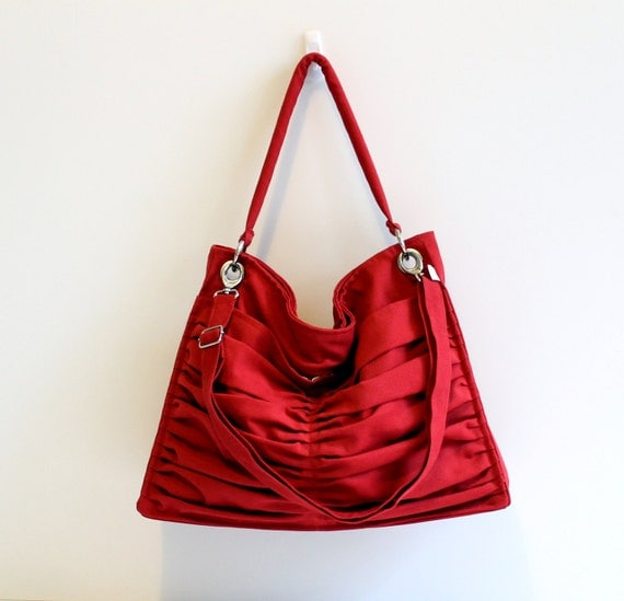 Euphoria in Carmine Red / Hobo Bag / Outside Pockets by ...