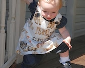 Puppies jumper, pindot peasant top and bloomers